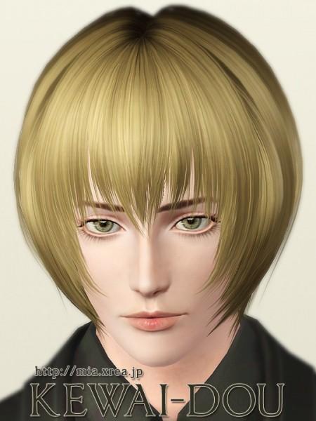 Jagged edges bob hairstyle - Leirei by Kewai Dou - Sims 3 Hairs