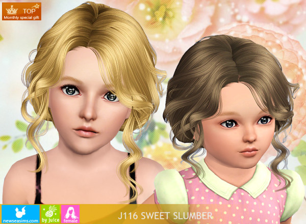 Latino bun hairstyle J116 SweetSlumber by NewSea for Sims 3