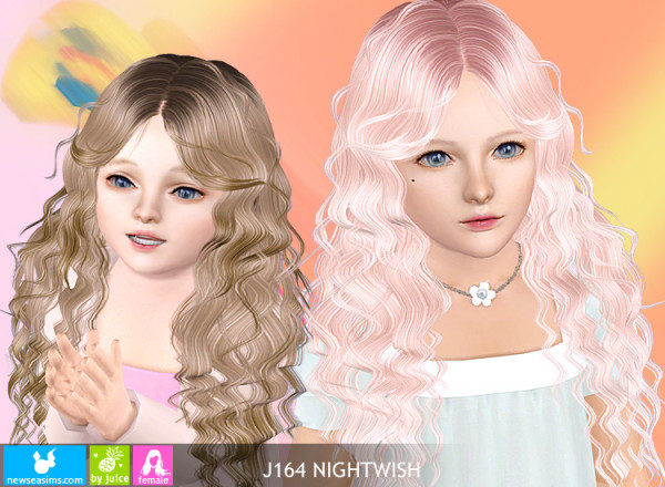 Dimensional curls hairstyle   J164 Nightwish by New Sea for Sims 3