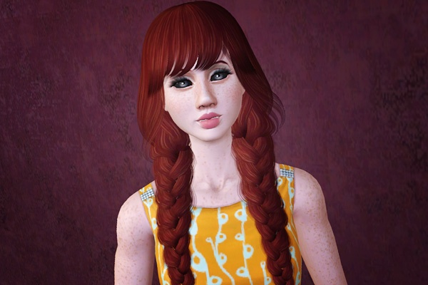 Phenomenal Double Braids Hairstyle Raon Retextured By Beaverhausen Sims 3 Short Hairstyles For Black Women Fulllsitofus