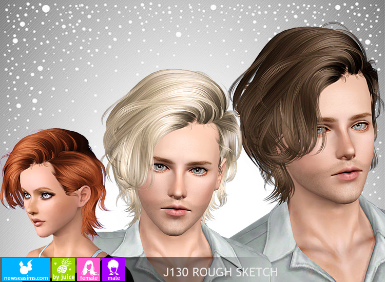 Chin Length Bob Hairstyle J130 Rough Sketch By Newsea