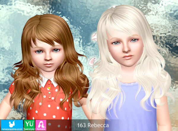 Chopped hairstyle 163 Rebecca by NewSea for Sims 3
