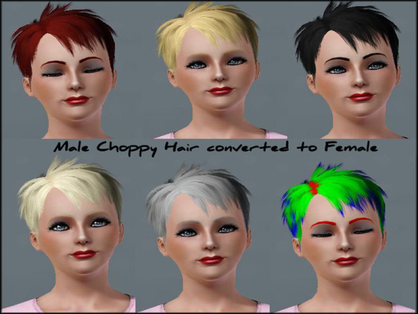 Choppy Hairstyle for Females retextured by Julie J at Mod The Sims for Sims 3