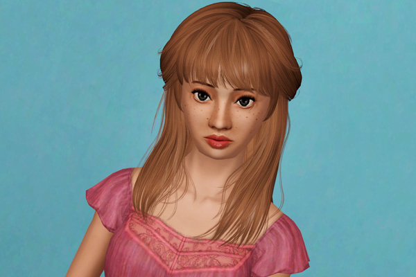 Fringed hairstyle with bangs   Newsea's Voyage retextured by Beaverhausen for Sims 3