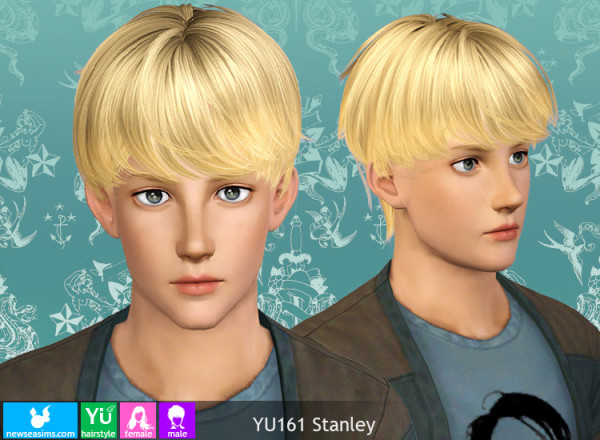 Stunner hairstyle YU161 Stanley by NewSea for Sims 3