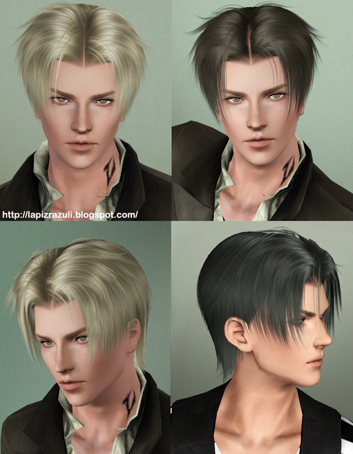 Adam hairstyle 7 Malkavian by Lapiz`s Scrapyard for Sims 3