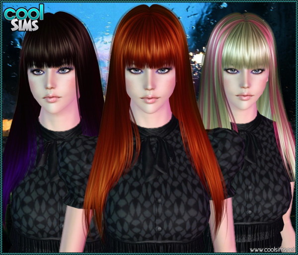 Straight with bangs hairstyle 101 by Anto for Sims 3