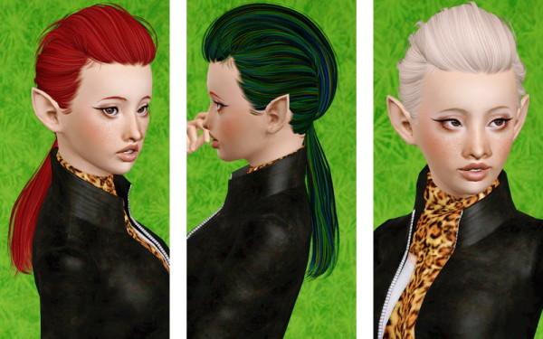 Modern ponytail hairstyleNewsea's Magnolias retextured by Beaverhausen  for Sims 3