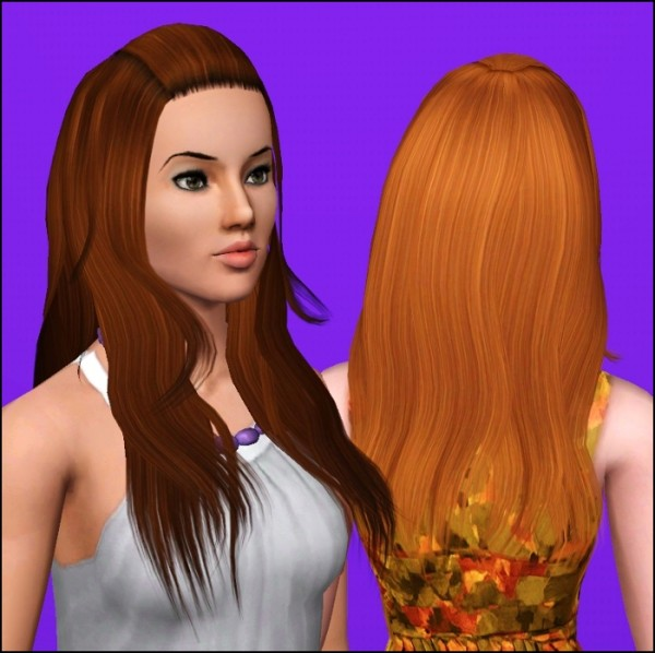 Cught bangs hairstyle   Agustin Miche Wavy Hair by Elexis at Mod The Sims for Sims 3