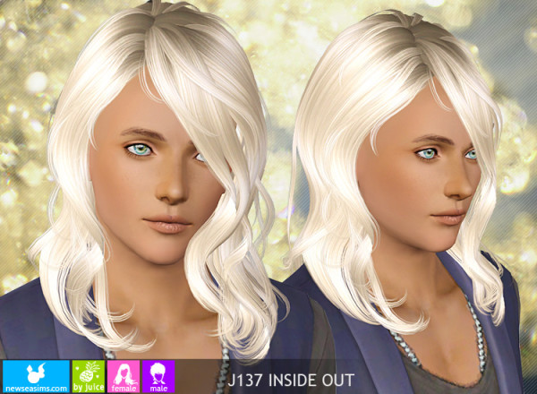 Front layers hairstyle J137 Inside Out by NewSea for Sims 3