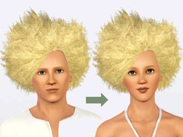 Curly and teased hairstyle   Wild Fire Fro by Nathia at Mod The Sims for Sims 3