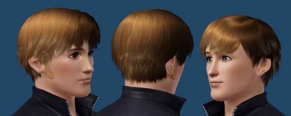 Shiny hairstyle by Kiara 24 at Mod The Sims for Sims 3