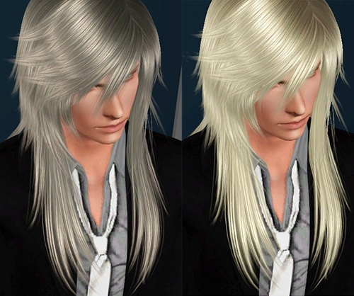 Dimensional scales and fringes hairstyle 6 Sand by Lapiz`s Scrapyard for Sims 3