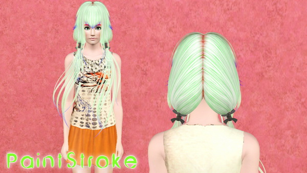 Butterflysims hairstyle 053 retextured by Katty for Sims 3