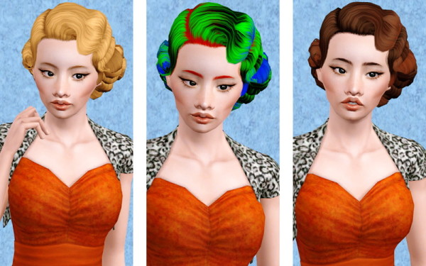 RH's Established Tight Wave hairstyle retextured by Beaverhausen for Sims 3