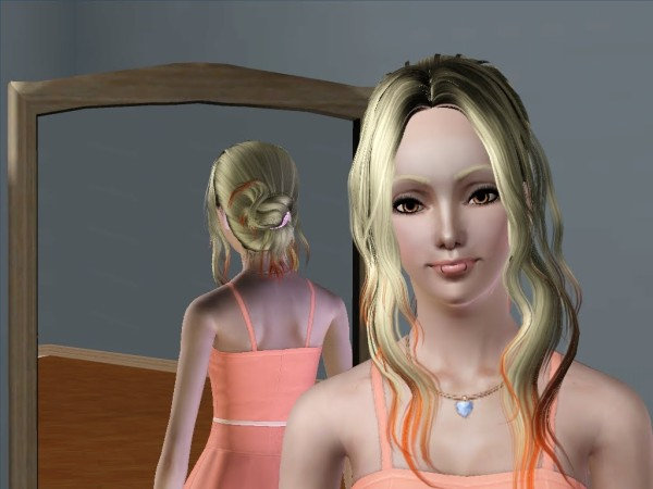 The loose and light hairstyle retextured by Savio for Sims 3