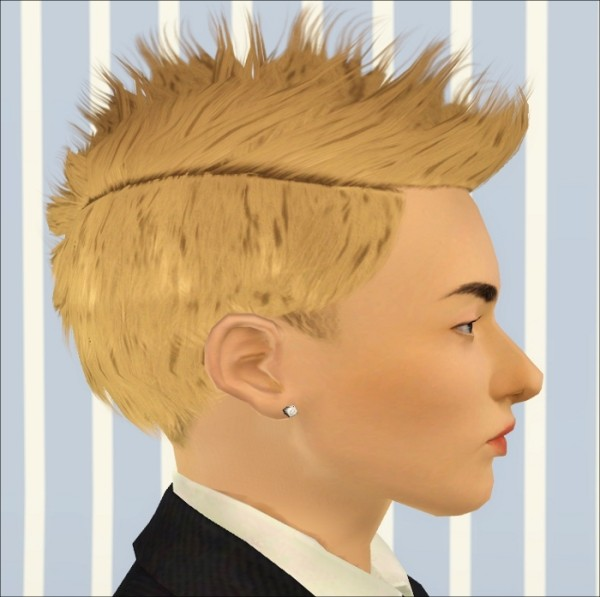 Spiny hairstyle Faux Hawk 2 by Jasumi for Sims 3