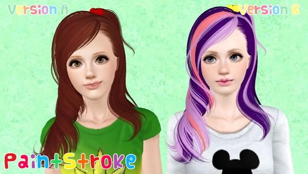 Small accessorized pigtail hairstyle Skysims 106 retextured by Katty for Sims 3