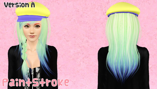 Cazy Steps hairstyle with Hat retextured by Katty  for Sims 3