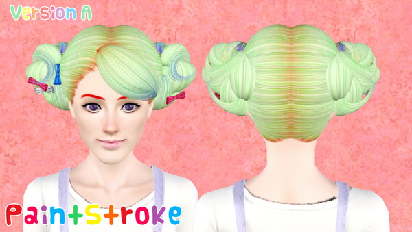 NewSea`s Love and Kiwi hairstyle retextured by Katty for Sims 3
