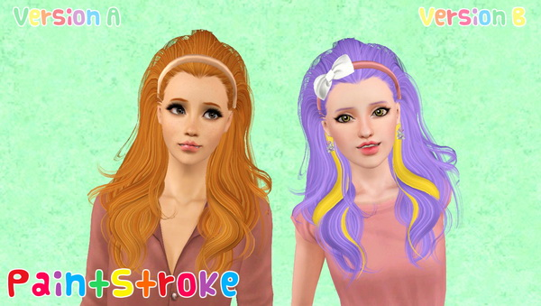 Thrown back with bow Peggy`s 905 hairstyle retextured by Katty for Sims 3