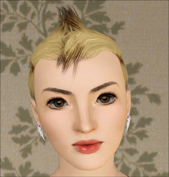 Spiny hairstyle for her Faux Hawk by Jasumi for Sims 3