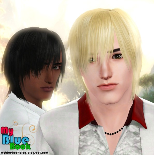 Jagged peaks hairstyle retextured by TumTum Simiolino for Sims 3