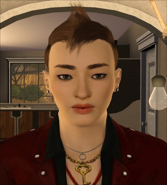 Spiny hairstyle for him Faux Hawk by Jasumi for Sims 3