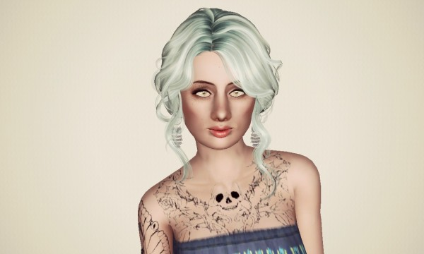 Latino bun hairstyle NewSea`s SweetSlumber retextured by Marie Antoinette for Sims 3
