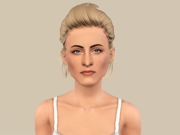 Tornado ponytail hairstyle Newsea`s Leona retextured by Fanaskher for Sims 3