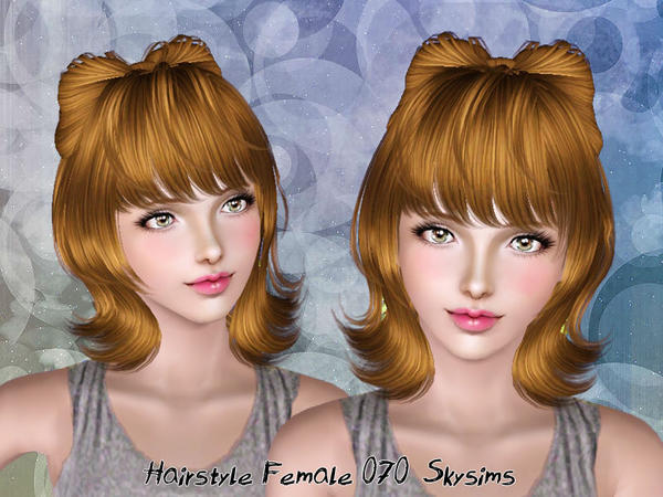 Bow hairstyle 070 by Skysims for Sims 3