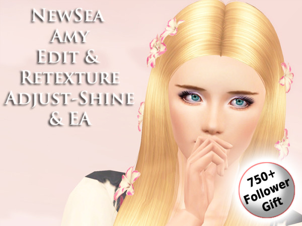 NewSea`s Amy hairstyle retextured by Brad for Sims 3