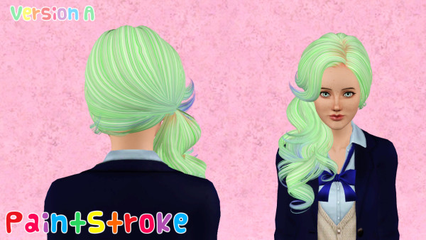 Curly side hairstyle Skysims 126 retextured by Katty for Sims 3