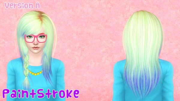 Cazy Steps hairstyle retextured by Katty for Sims 3