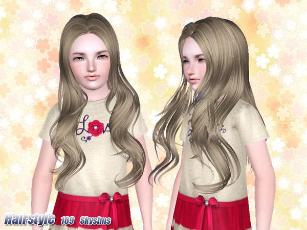 Flower headband hairstyle 169 by Skysims for Sims 3
