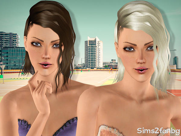 Thin crepe hairstyle 18 by sims2fanbg for Sims 3