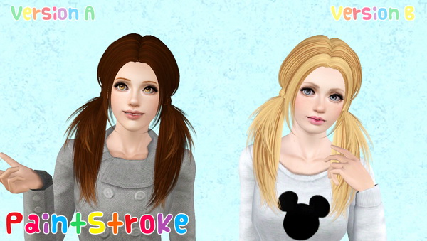 Butterflysims 068 hairstyle retextured by Katty for Sims 3