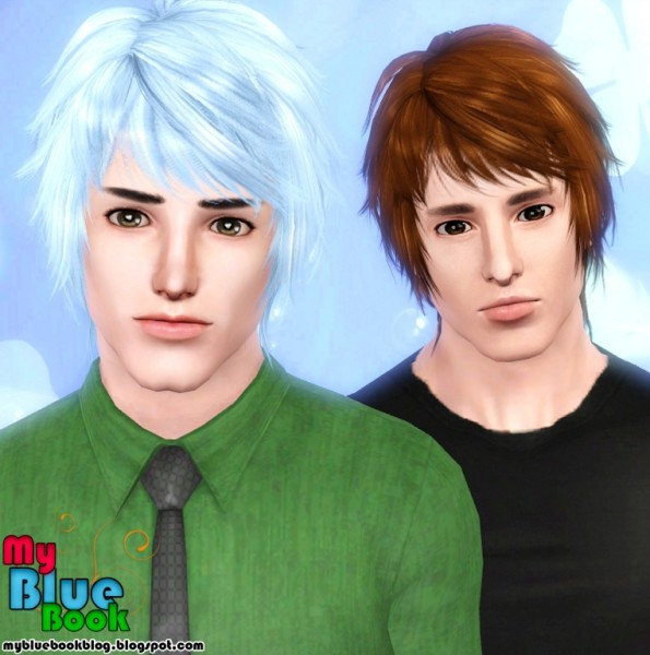 Wavy medium hair retextured by TumTum Simiolino for Sims 3