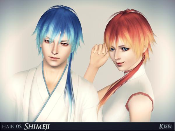 Shimeji Spikey Anime Hairstyle By Athem2310 Sims 3 Hairs