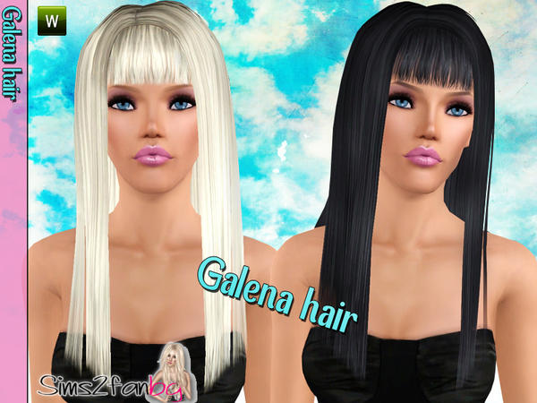 Galena hairstyle by Sims2fanbg for Sims 3