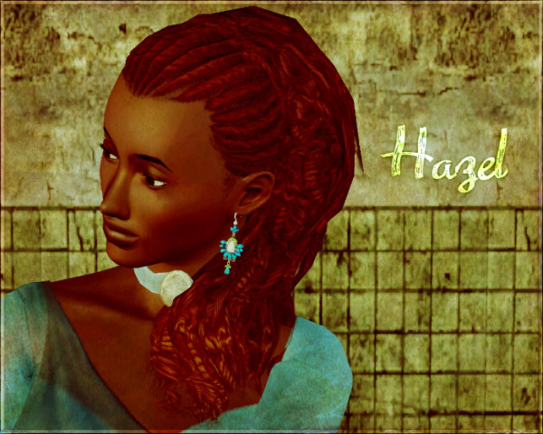 Hazel store hairstyel edited by Aikea Guinea for Sims 3