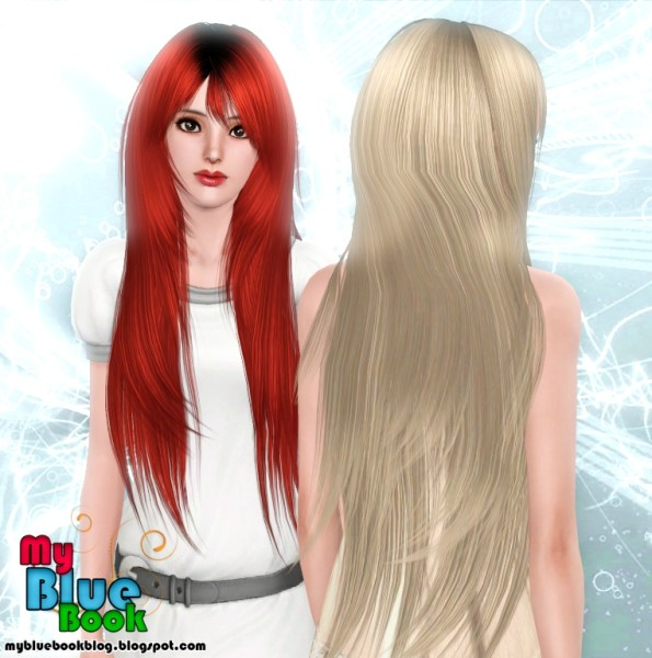 soccer hairstyles for girls : ... bangs hairstyle Rose`s 94 retextured by TumTum Simiolino for Sims 3