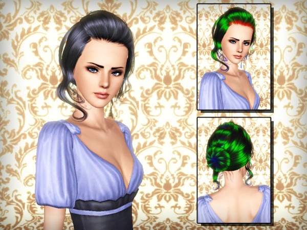 Caught bangs hairstyle NewSea`s Candice retextured by Forever and Always for Sims 3