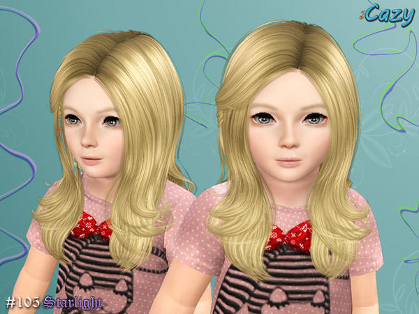 Fun Highlights Starlight Hairstyle by Cazy for Sims 3