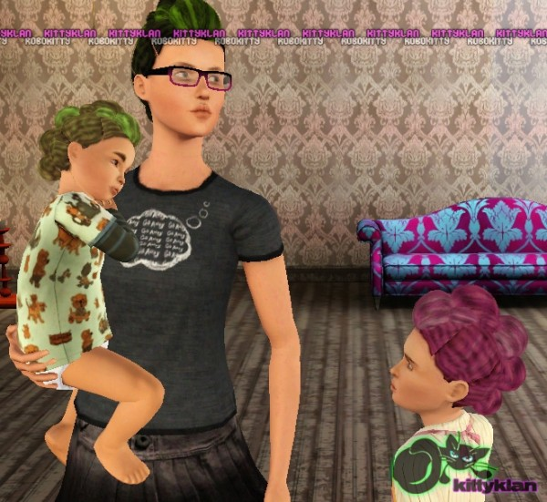 Bunhawks or roll and tuck frohawks hairstyle by robokitty for Sims 3