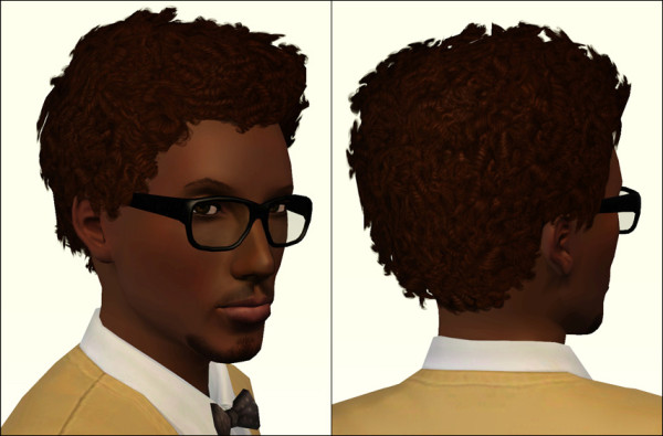 Short afro hairstyle by Aikea Guinea for Sims 3