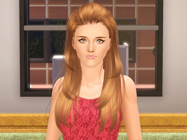 NewSea`s Sakura drops hairstyle retextured by Brad for Sims 3