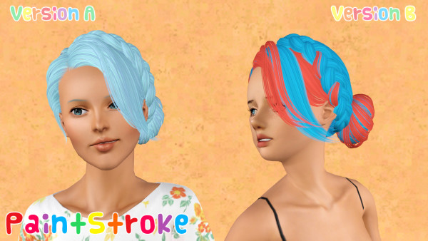 Medieval braided bun hairstyle Skysims 124 retextured by Katty for Sims 3