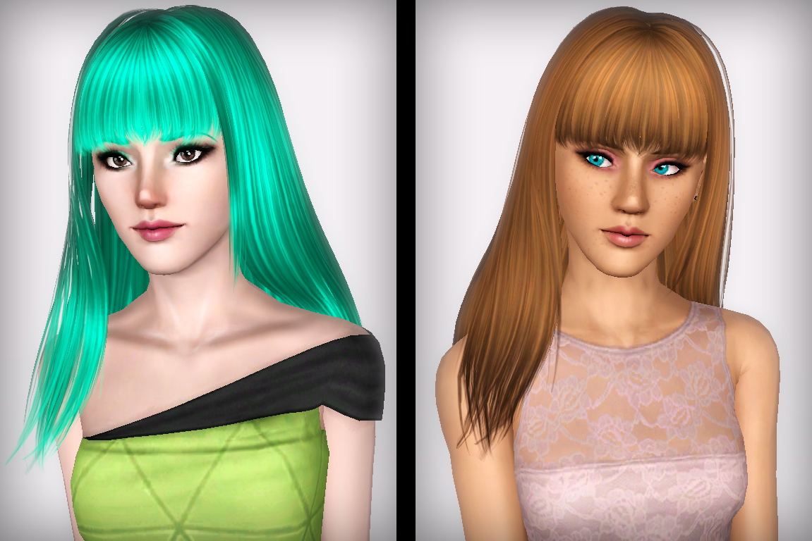 Straight Bangs Hairstyle Skysims 149 Retextured By Forever