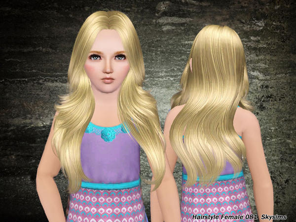 Elegant hairstyle 081 by Skysims for Sims 3